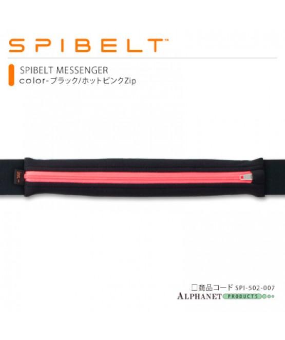 SPIBELT メッセンジャー ブラック/ホットピンクZip